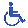 wheelchair accessible logo